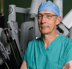 Dr. Frank Seifert with Our Surgical Robot