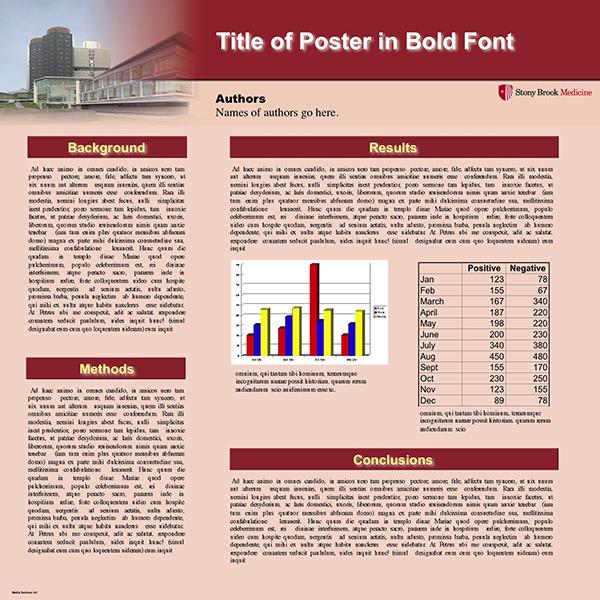 poster printing templates stony brook university school of medicine. Black Bedroom Furniture Sets. Home Design Ideas