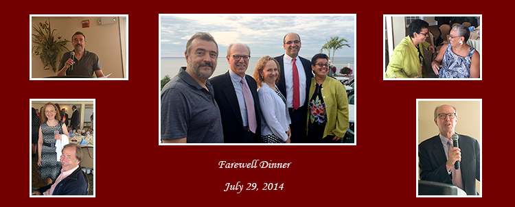 Four senior members of the Department of Psychiatry were honored at a farewell dinner