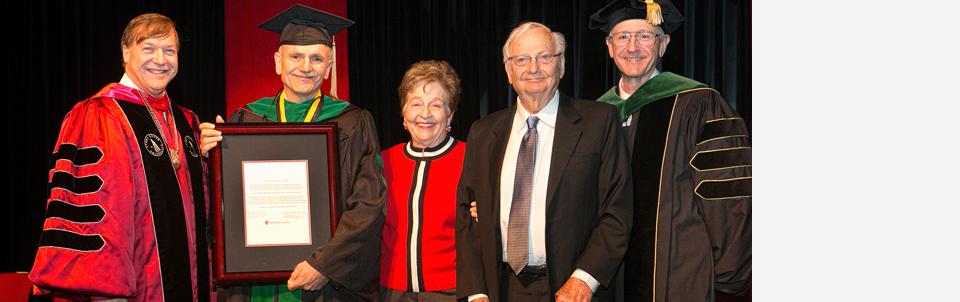 The endowed professorship honors the son of Past President Shirley Strum Kenny