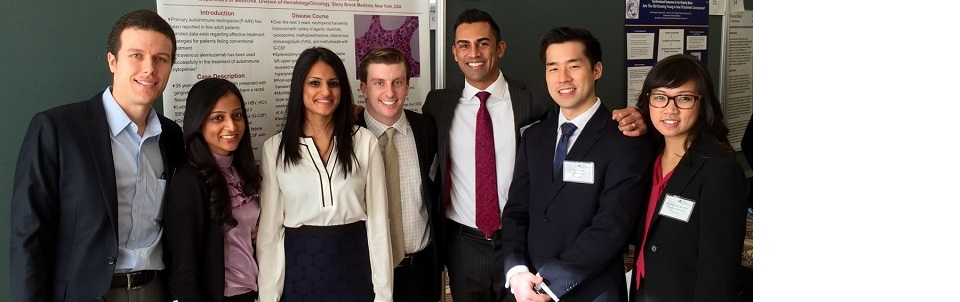 Six Stony Brook Internal Medicine residents submitted abstracts that were selected for the NYACP Scientific Poster Competition in Westchester