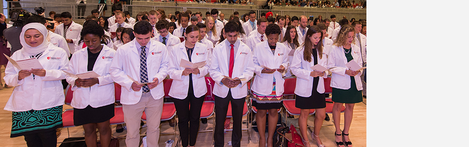 White Coat Ceremony for incoming class symbolizes professionalism, scientific excellence and compassion
