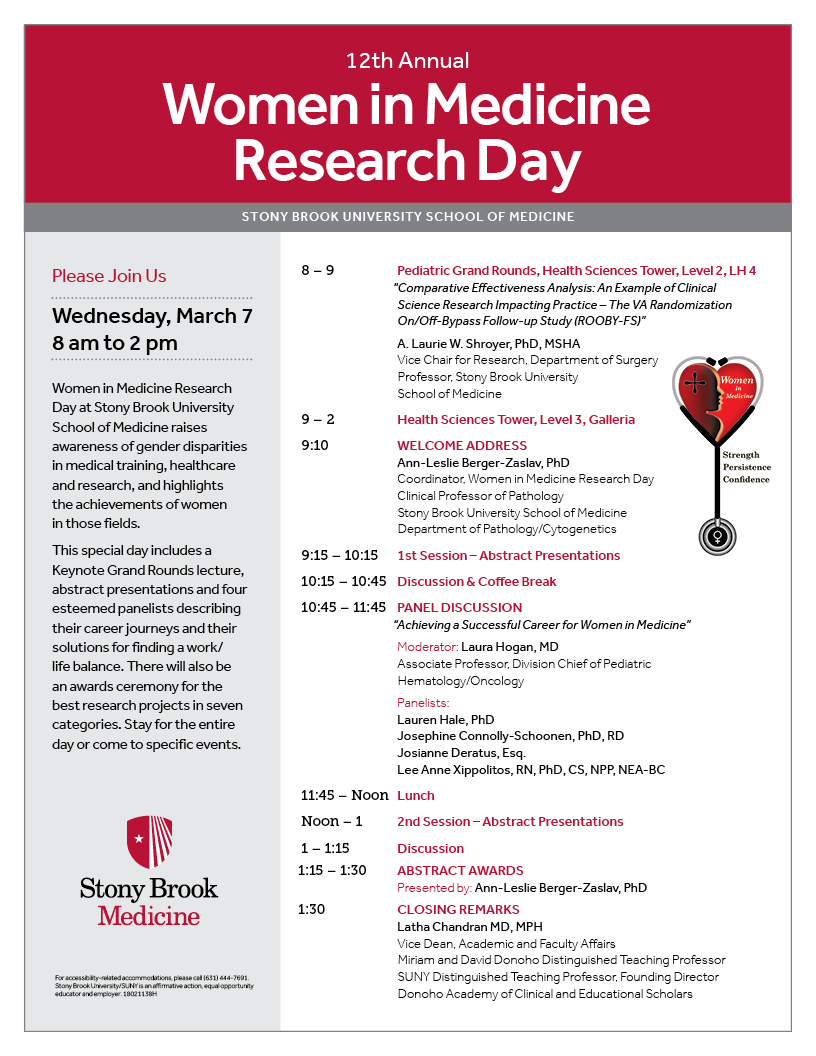12th Annual Women in Medicine Research Day | Stony Brook University ...