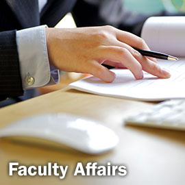 Faculty Affairs Left Naviagation Image