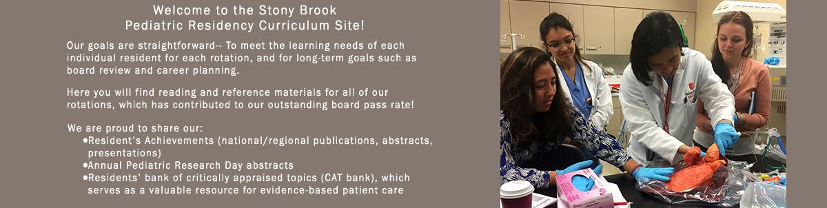Pediatric Residency Program Rotations   Stony Brook University